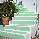 Hand Painted Steps by phil decocco