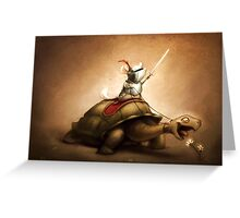 Knight of the Chinchilla Greeting Card