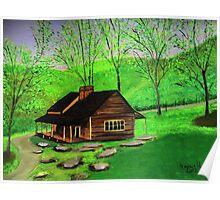 Hillside Cabin  Poster