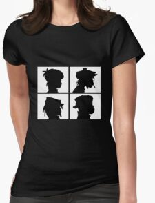 Gorillaz - Demon Days Silhouette Womens Fitted T-Shirt