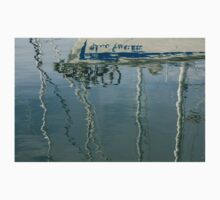 Water Play - Abstract Boat and Bicycle Reflections One Piece - Long Sleeve