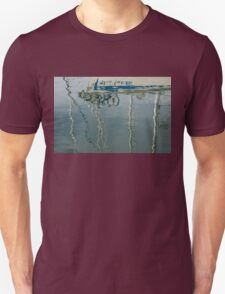 Water Play - Abstract Boat and Bicycle Reflections T-Shirt