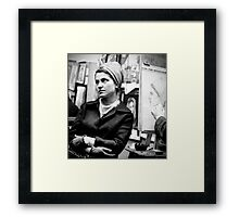 Greenwich Village Mona Lisa Framed Print