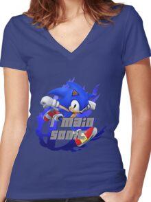 I MAIN SOINC Women's Fitted V-Neck T-Shirt