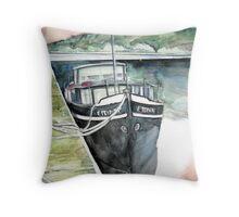 Stoke Lock Mooring Throw Pillow