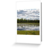 lilies on clouds Greeting Card