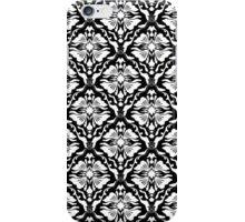Black And White Vintage Floral Damasks Pattern iPhone Case/Skin