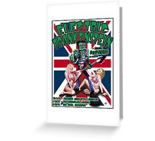 Electric Frankenstein 1999 UK Tour Poster Greeting Card