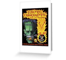 Electric Frankenstein Gig Poster Greeting Card
