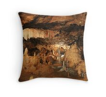 Great shot from down a Cave Throw Pillow