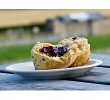Jam And Scone Photographic Print