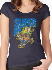Super Eco Bros Women's Fitted Scoop T-Shirt
