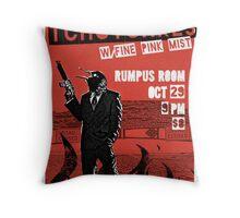 Fake band gig poster or t-shirt, DEMONIC TCHOTCHKES Throw Pillow