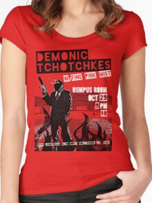 Fake band gig poster or t-shirt, DEMONIC TCHOTCHKES Women's Fitted Scoop T-Shirt