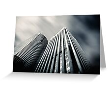City by the Bay  - city, sunset, dusk, building, hotels, Chicago, No.2 Greeting Card