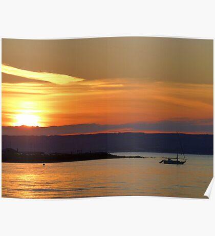 Sunset Over Bangor Bay Poster