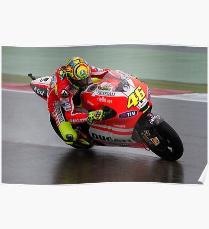 Valentino Rossi in Assen 2011 Poster