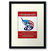 American Patriot Veterans Day Poster Greeting Card Framed Print