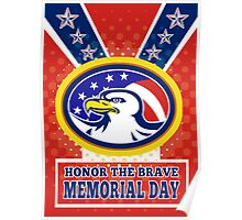 American Eagle Memorial Day Poster Greeting Card Poster