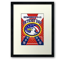 American Eagle Patriot Day 911  Poster Greeting Card Framed Print