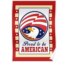 American Proud Eagle Independence Day Poster Greeting Card Poster