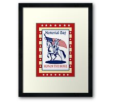 American Patriot Memorial Day Poster Greeting Card Framed Print