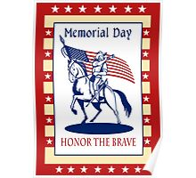 American Patriot Memorial Day Poster Greeting Card Poster