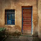 Red Door ~ Blue Window  by Lucinda Walter