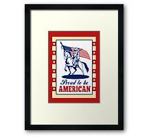 American Patriot Independence Day Poster Greeting Card Framed Print