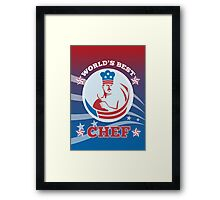 World's Best American Chef Greeting Card Poster Framed Print