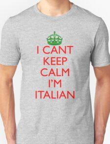 Italian Keep Calm Unisex T-Shirt