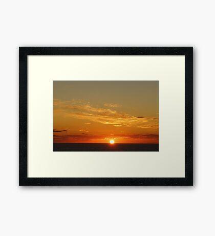 Fireball on sea Framed Print