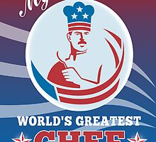World's Greatest Dad Chef Greeting Card Poster by patrimonio