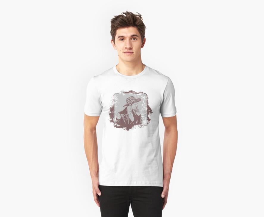 Cowboy Smoking Hat :D Cool Grunge Vintage T-Shirt by Denis Marsili - DDTK