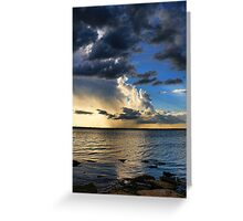 Clouds, Rays and Rain Greeting Card