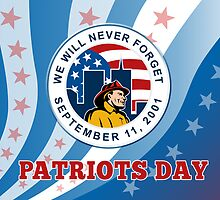 American Patriot Day Remember 911  Poster Greeting Card by patrimonio