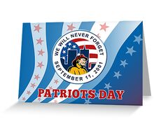 American Patriot Day Remember 911  Poster Greeting Card Greeting Card