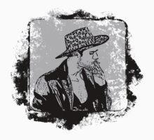 Cowboy Smoking Hat - Cool Grunge Vintage T-Shirt by Denis Marsili