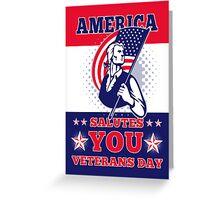 American Patriot Memorial Day Poster Greeting Card Greeting Card