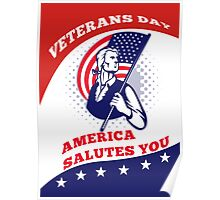 American Patriot Veterans Day Poster Greeting Card Poster