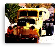 Old late 1930's Chevrolet oil truck. Canvas Print