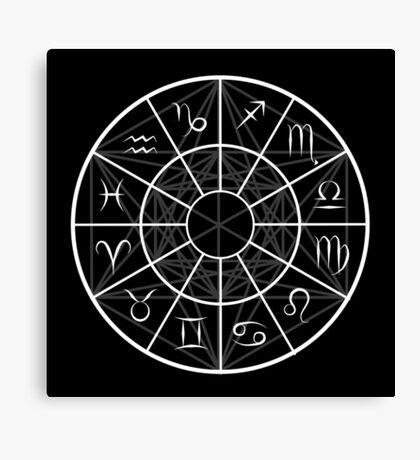 Astrology Chart & Sacred Geometry Canvas Print