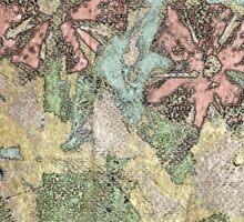 Pastel Wildflowers. Sticker