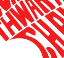 A Wordy Badge Sticker