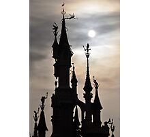 PARIS, FRANCE - Disneyland Paris Castle backlit Photographic Print