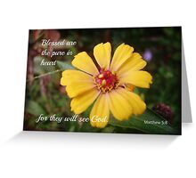 Matthew 5:8 Greeting Card