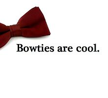 Bowties are cool. by deanandcas