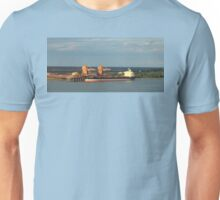 Deep Sea Ship On The Mississippi River Being Loaded Unisex T-Shirt