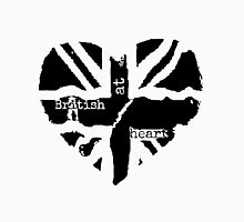 Brit at Heart (Black) Womens Fitted T-Shirt