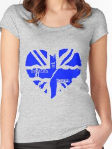 Brit At Heart (blue) Women's Fitted Scoop T-Shirt